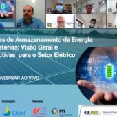 ITEMM realiza webinar para a Chesf sobre sistemas de armazenamento de energia para o setor elétrico
